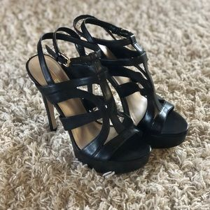 Black Guess Strappy Heels- Very comfortable